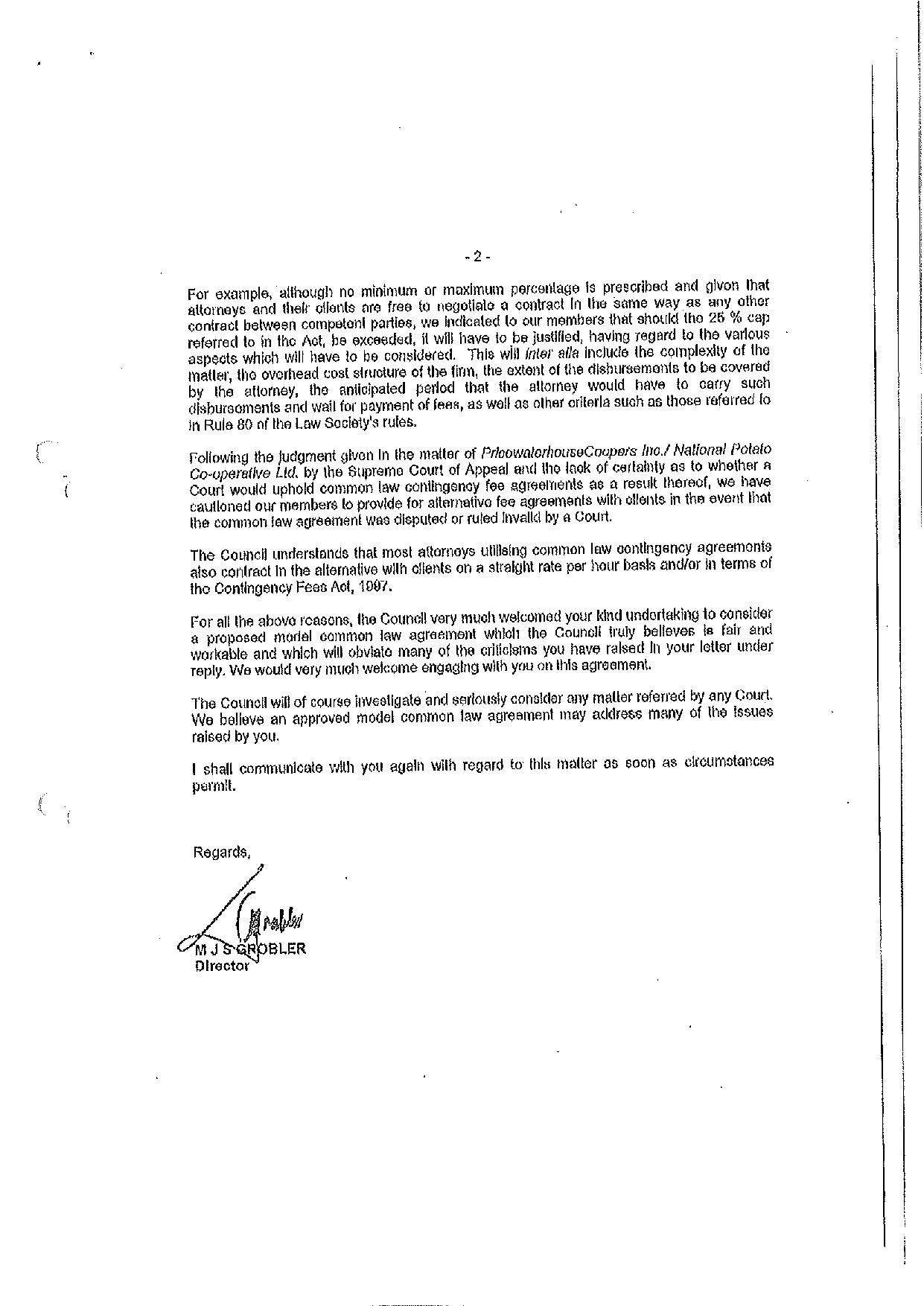 Annexure RBA12 Letter from Law Society to the the Deputy Judge President page 002